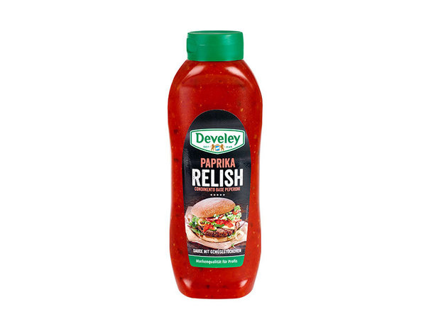 Develey Paprika Relish // 875 ml / Flasche