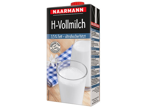 Naarmann H-Vollmilch 3,5% // 1,0 l / Packung